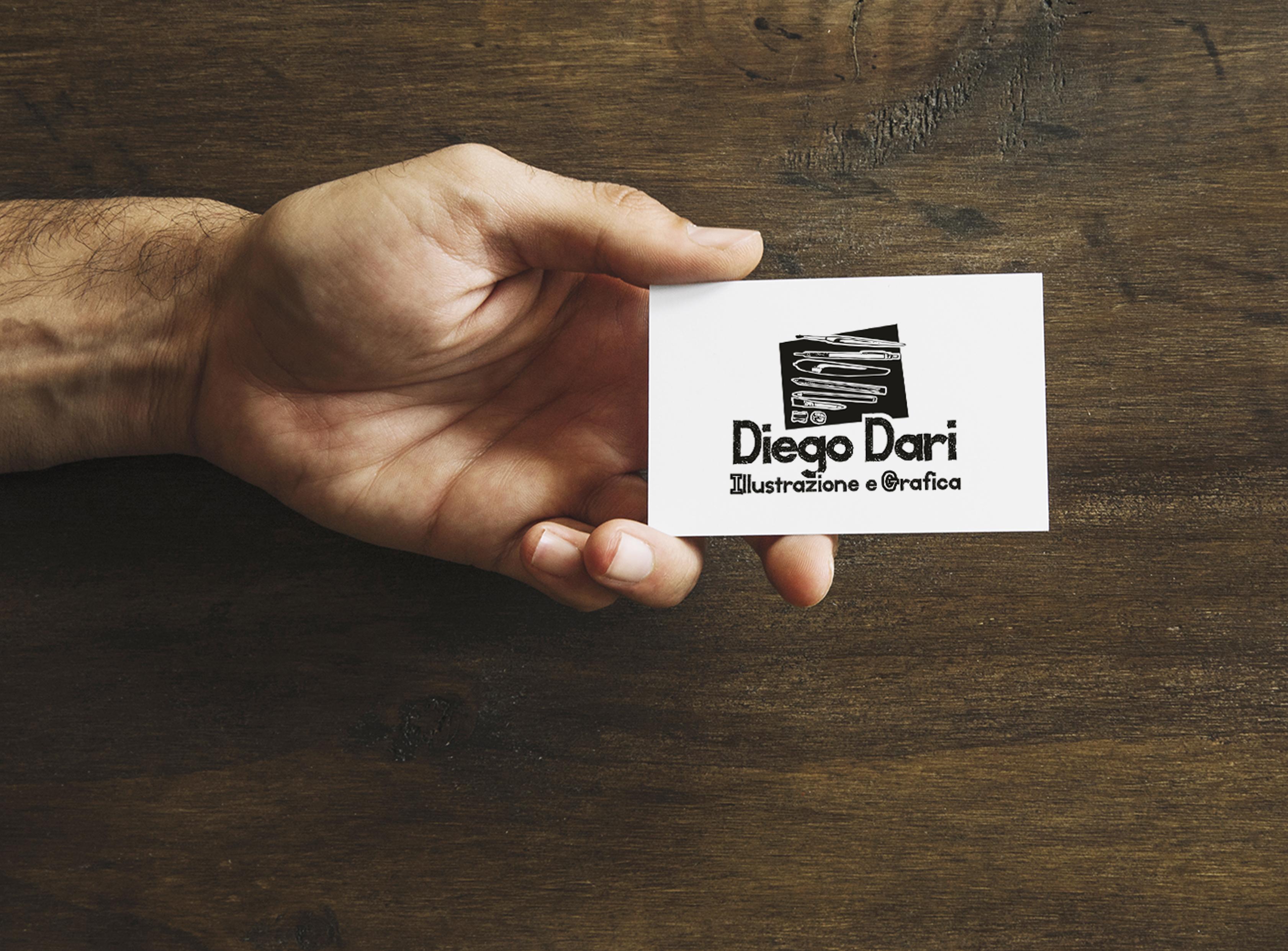 biglietti da visita originali - diego dari - grafico piombino